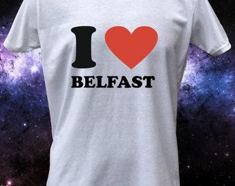 I Love Belfast Heart T-Shirt