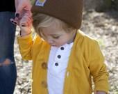 Mustard Cardigan For Kids, Baby Mustard Knit Cotton Cardigan