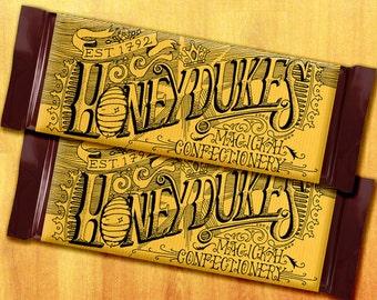 Honeydukes Harry Potter Printable Chocolate Bar Wrapper Favor (Lettering, Illustration)