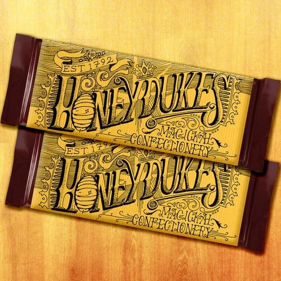 Honeydukes Harry Potter Printable Chocolate Bar By