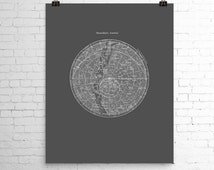 Stars Map Print Southern Hemisphere Constellations Poster