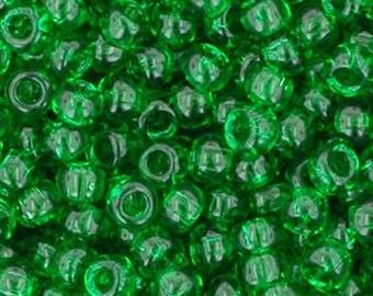 Toho 11/0 Transparent Grass Green TR-11-7B Tube