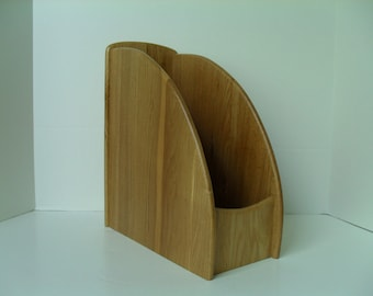Solid Wood Desk Organizer File Organizer Magazine Holder Julie Pomerantz