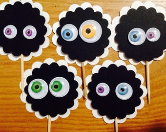 Halloween Party cupcake toppers picks ghosts