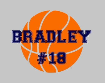 Basketball Name Decal | Sports Decal | Yeti Decal | Car Decal | Athlete Decal