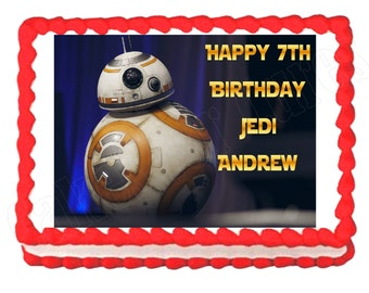 Star Wars The Force Awakens BB8 BB-8 party decoration edible cake image cake topper frosting sheet