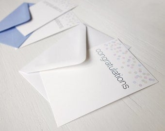 Small note cards congratulations cards set of 8 confetti notecards