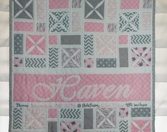 Cathedral Window Baby Quilt