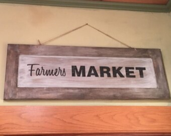 Farmers Market hanging sign
