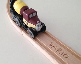 Personalized BRIO Wooden Train Track STRAIGHT