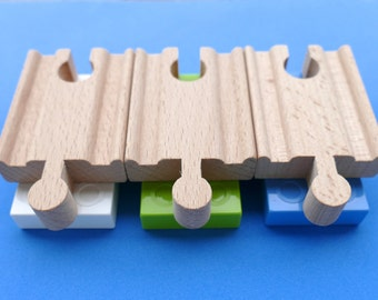 DUPLO BRIO Wooden Train Track Adapters 3 Set