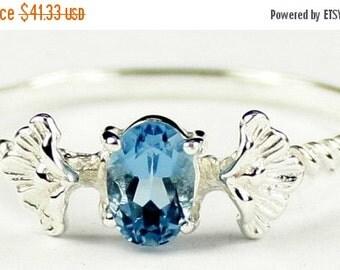 Summer Sale, 30% Off, SR192, .50ct London Blue Topaz, 925 Sterling Silver Ring