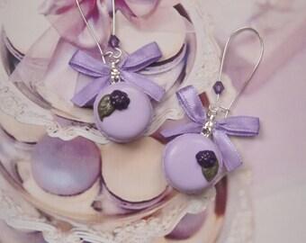 earrings macarons blackberry