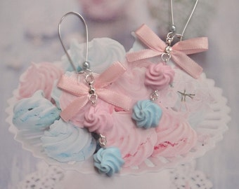 earrings meringues polymer clay