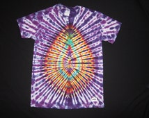 M50 Psychedelic Turtle Egg, Tie Dye T-shirt, Fits Unisex Medium