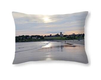 Newport RI Second Beach Pillow, New England Pillow,  Nautical Pillow,  Rhode Island, Newport