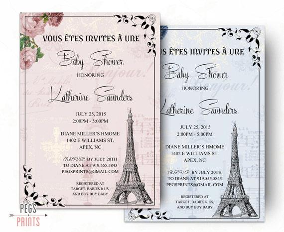 Paris baby shower invitation parisian baby shower invitation il570xn filmwisefo