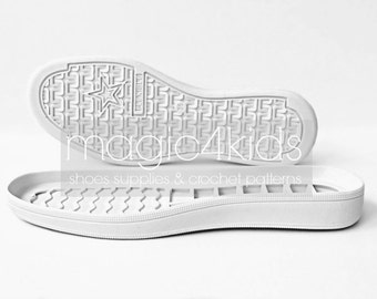 Rubber soles with insoles for shoes - high quality, soles for handmade shoes, women sizes, soles for crochet / felted shoes