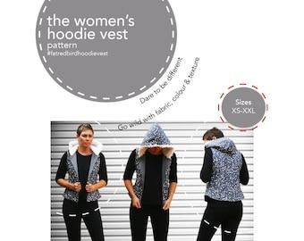 Fat Red Bird Women's Hoodie Vest