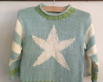 Child's hand knitted jumper