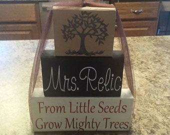 Personalized Teacher Grows Mighty Trees Blocks