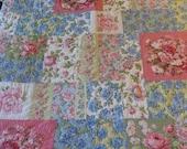 Twin Size Quilt Matching Sham and BedSkirt  //  Polished Cotton  //  Liz Claiborne  // Vintage Set  //  Floral Cottage Shabby Chic