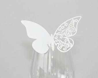 50 table cards place cards Butterfly
