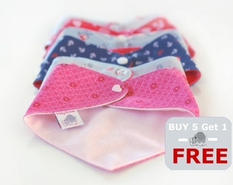 Buy 5 - Get ONE Free Bandana Bibs, 6=5 special offer bandanas, special offer bibs, 6 Bandanas for the price of 5, Buy 5 get the sixth free