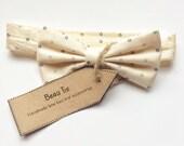 Baby boys bow tie baby bow tie ivory baby boy bow tie dotty boys bow tie