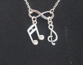 Infinity Music Lover Necklace