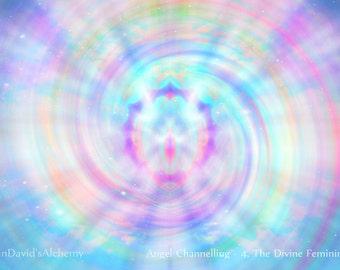 Angel Channelled Mystical Photo Art Print, Ethereal Angelic Realms Wall Decor, Pink Blue Angelic Spiritual Art, Divine Feminine Wall Art