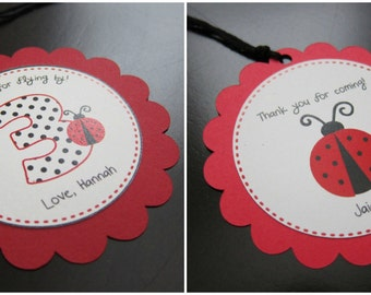 Ladybug Favor/Gift Tag