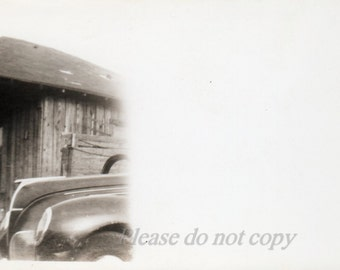 """abstract printing mistake ~ Vintage Snapshot Photo """"end of the film reel"""""""
