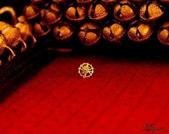 Handmade Shiva Silver Nose Pin