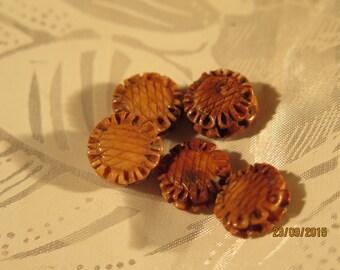 Sunflower Glass beads 13mm