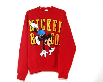 Vintage Mickey Mouse sweatshirt red 80s 90s
