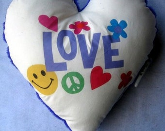"large heart 'Love""  autograph pillow"