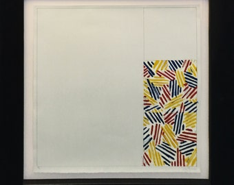 """Jasper Johns """"#4, From 6 Lithographs (After Untitled 1975)"""" - 1976 - S/N Lithograph - Retail 18,000 - COA - See Live at GallArt"""