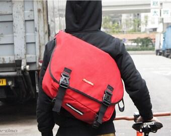 Red 1000D Cordura nylon messenger bag, Highway,bike messenger,cycling bag,waterproof,durable,Fordma,travel bag,commuter bag,school bag