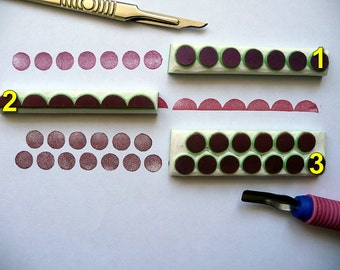 Circle border Rubber Stamp. Geometric Polka Dot, Hand Carved Rubber Stamp, Card Making, Scrapbooking