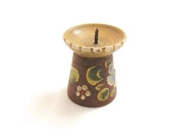 Hand Carved German Candle Holder