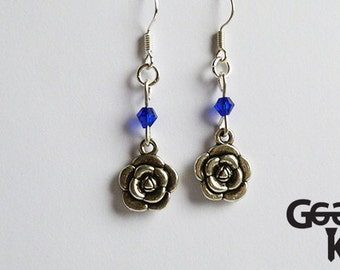 Rose Drop Earring with beads
