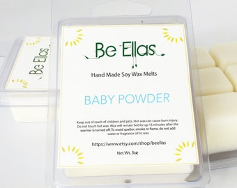 Baby Powder Soy Wax Melts, Mix and Match, Wax Melts, Wax Melters, Scented Wax Melts, Scented Wax Tarts, Soy Wax Tarts, Gift Idea
