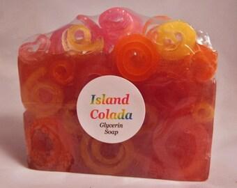 """Fun Soap! """"Island Colada"""" Handcrafted & Unique - Great Gift Idea!"""