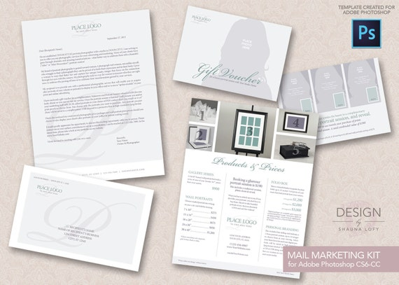 4 piece direct mail marketing kit template for adobe. Black Bedroom Furniture Sets. Home Design Ideas