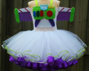 Buzz lightyear costume/ buzz lightyear tutu dress/ toy story tutu dress/ buzz lightyear tutu/ toy story costume/ ribbon trimmed tutu