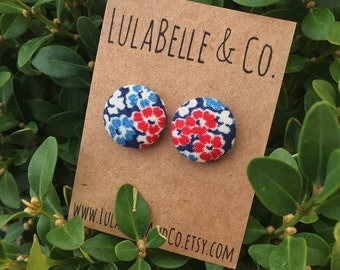 Flower Power Button Earring