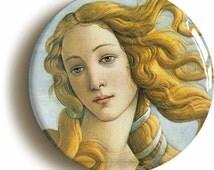 Birth Of Venus Sandro Botticelli Badge Pin Button (Size is 1inch/25mm Diameter) Renaissance Art