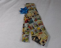 Adult/teen neck tie made from Popeye the sailor man comic strip cotton fabric
