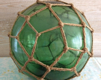 Extra Large Antique Hand-Blown Glass Fishing Float